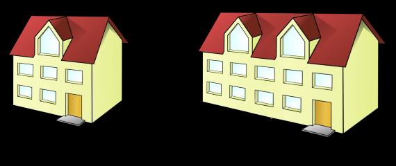 porovnanie dvoch stavebnych objektov